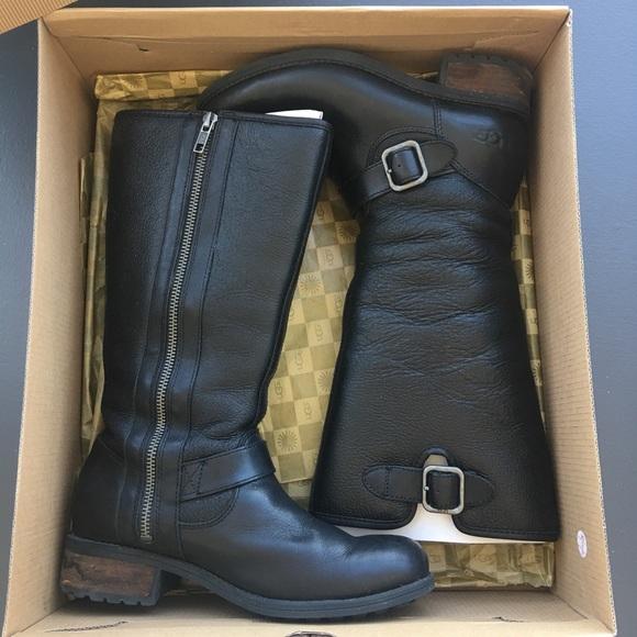facbff4786c UGG Chancery Black Leather Boots